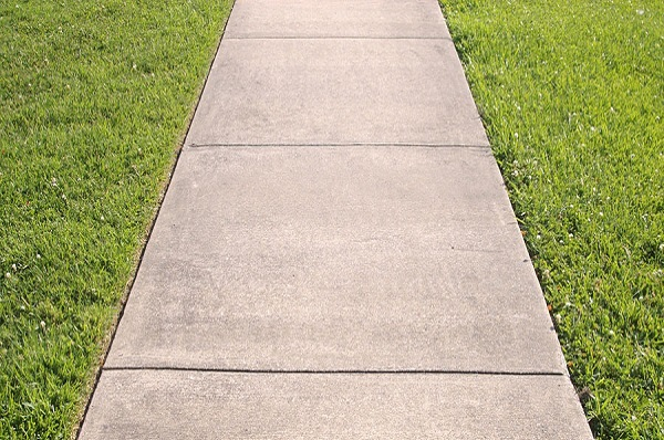 Concrete and side walk